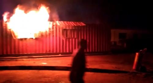 BREAKING: Fire Guts INEC Office In Ondo, Nigeria